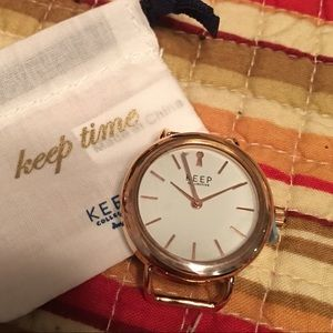 Keep Collection ROSE GOLD Time Keep. NWT